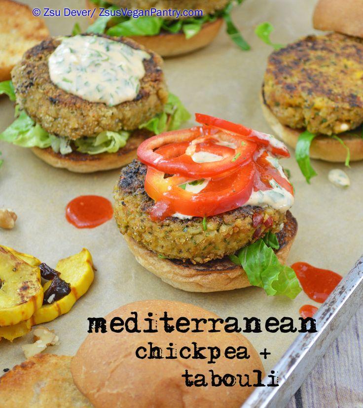 Chickpea + Tabouli Sliders with Tahini-#Lemon Sauce. #Vegan #burgers ...