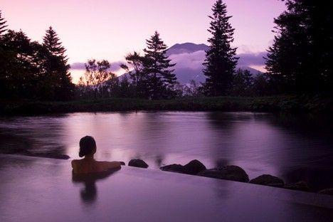 Niseko hot springs in Japan. This looks relaxing!