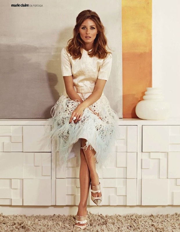 Olivia Palermo by Andrew Yee for April Marie Claire Spain | Retro Spring Glam