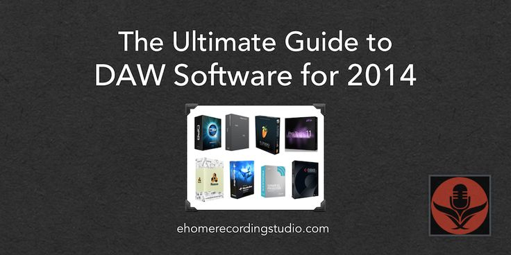 A Beginners Guide to selecting the right Home Recording Studio DAW Software. Find and purchase the best DAW software for your home studio needs.