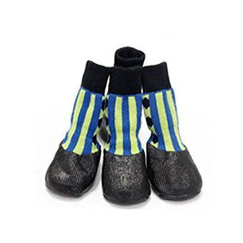 Aus der Kategorie Pfotenschutz  gibt es, zum Preis von   Packung mit 4 netten Socken, verwendet <br> hauptsächlich warme Pfoten Ihres Hundes Wohnung an Wintertagen zu halten oder in nicht zu ruinieren und sogar der Hund die Beine bei Dermatitis oder anderen Problemen bewahren. <br> Mit rutschfeste Unterseite. Die Socken werden Hund Pfote mehr bequem und warm <br> wenn Spaziergang oder laufen in einem kalten Tag. <br> Einfach zu starten und mit der elastischen Konstruktion tragen, können <br…