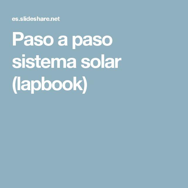 Paso a paso sistema solar (lapbook)