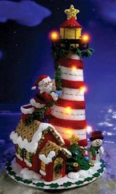 Bucilla Holiday Lighthouse Felt Kit NEW and RARE by CraftsDoneRite