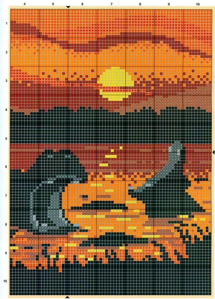 hippos x-stitch