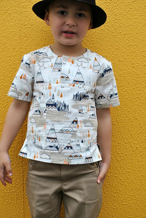 The Kieran Shirt  boys pdf sewing pattern by FelicityPatterns