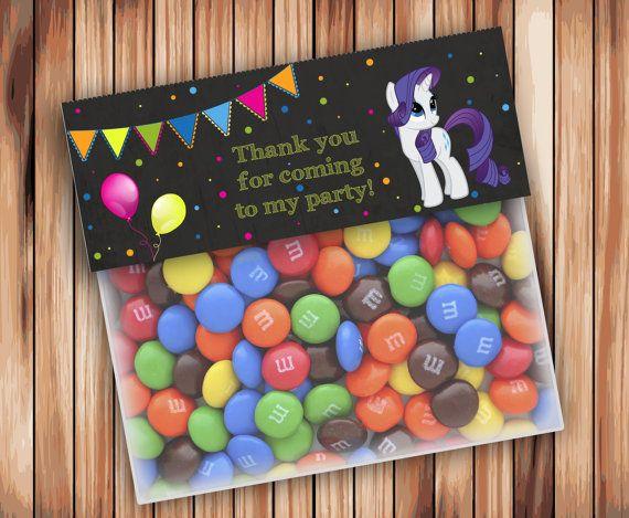 My Little Pony Favor Bag Toppers Chalkboard Party My por wbanner