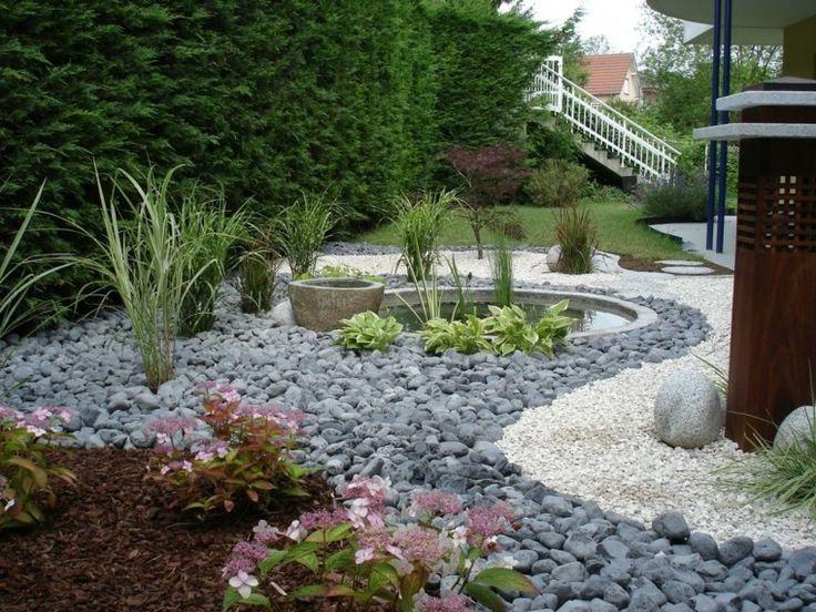 diseño de rio de piedras para jardin