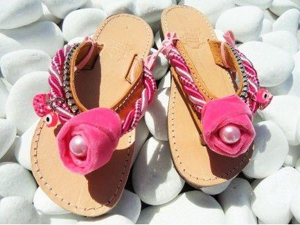 Pink Rose Kids Sandals