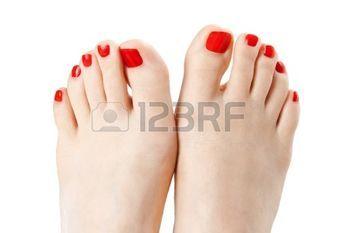 piedi sexy: Rosso smalto