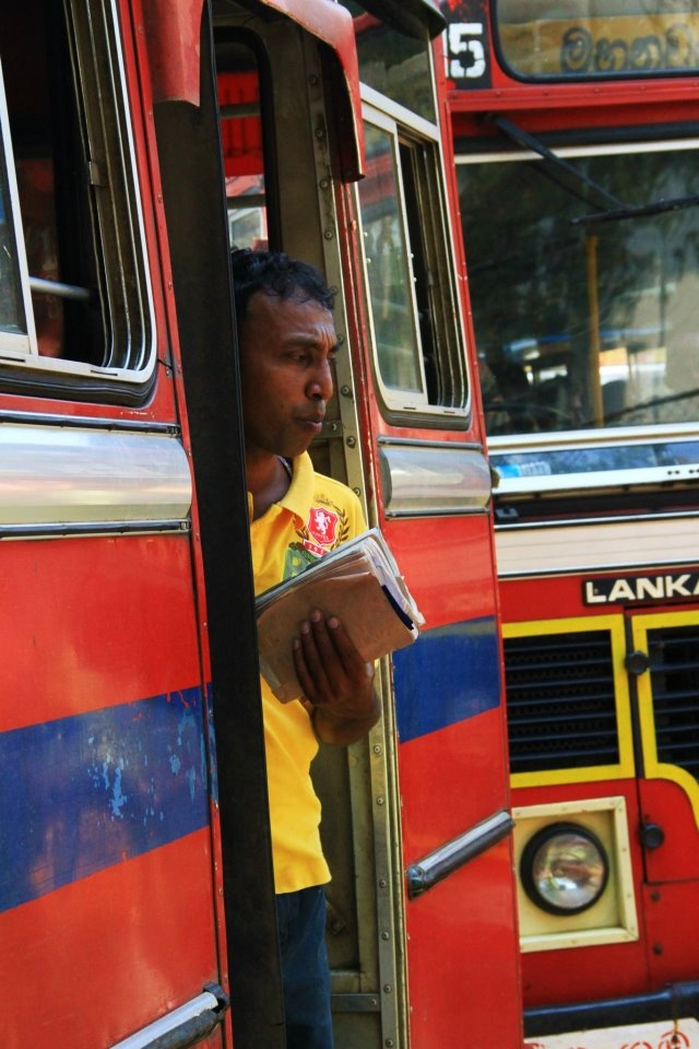 Guy on the move in Kandy/Sri Lanka
