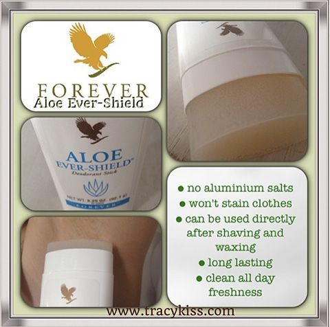 Forever Living Aloe Ever-Shield Deodorant Stick. To order visit our website www.kimandterry.myforever.biz
