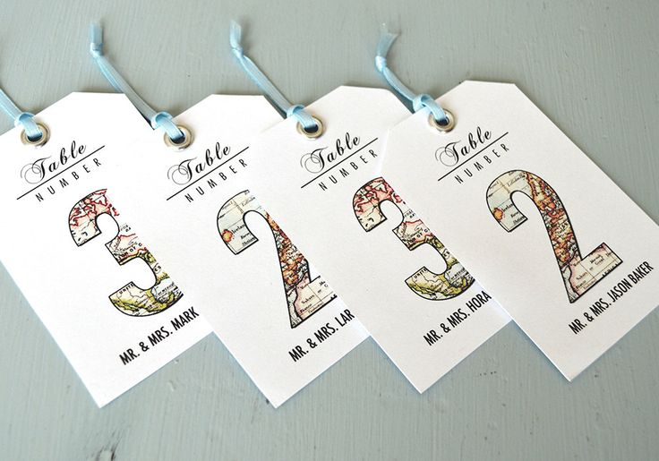 Vintage Travel Wedding Theme Guest Seating Tags, Table Numbers 1 - 15, DIY Printable File by CandiceScottDesign on Etsy https://www.etsy.com/listing/225964563/vintage-travel-wedding-theme-guest