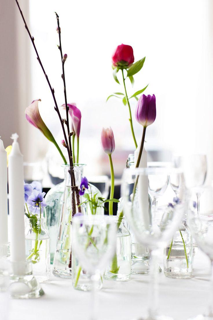 Borddækning til bryllup - Fotograf Peter Hestbæk