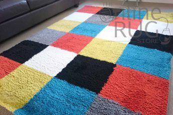 Multi-Colour-Square-Blocks-Shaggy-Rug-Catalogue