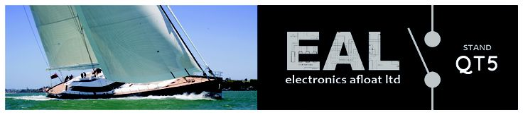 Boat exhibition advert for EAL. Stand number communication without losing the brands strength and visibility