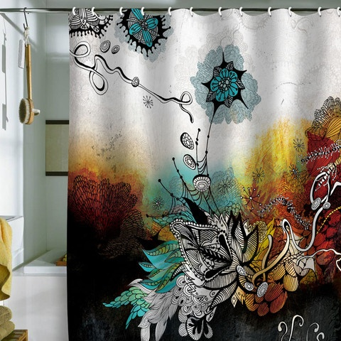 Very cool shower curtain: Abolina Frozen, Iveta Abolina, Frozen Dreams, Bathroom Curtains, Black Shower Curtains, Bathroom Wall, Bathroom Ideas, Design Home, Dreams Shower
