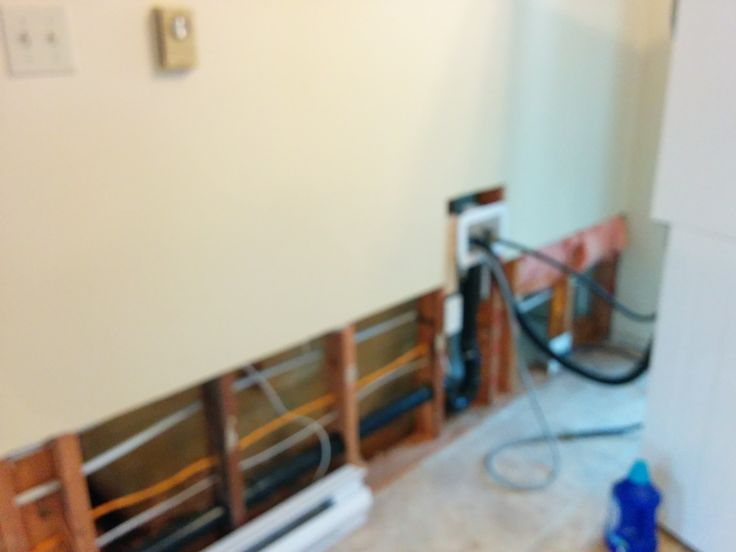 the plumbing for the laundry machines goes in where the kitchen nook was formerly