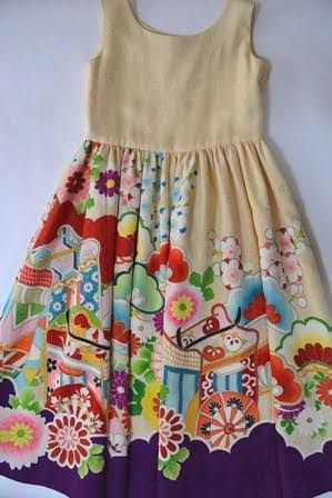 「着物 リメイク 子供服」の画像検索結果