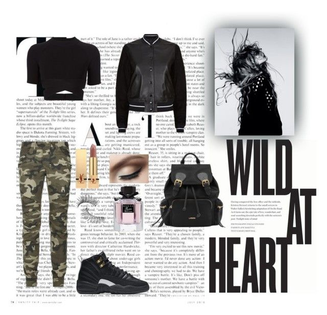 Wild at Heart by xo-nataliiee-xo on Polyvore featuring polyvore, fashion, style, T By Alexander Wang, rag & bone, Yves Saint Laurent, Trish McEvoy, Gucci, NIKE, Balmain, Magdalena and clothing