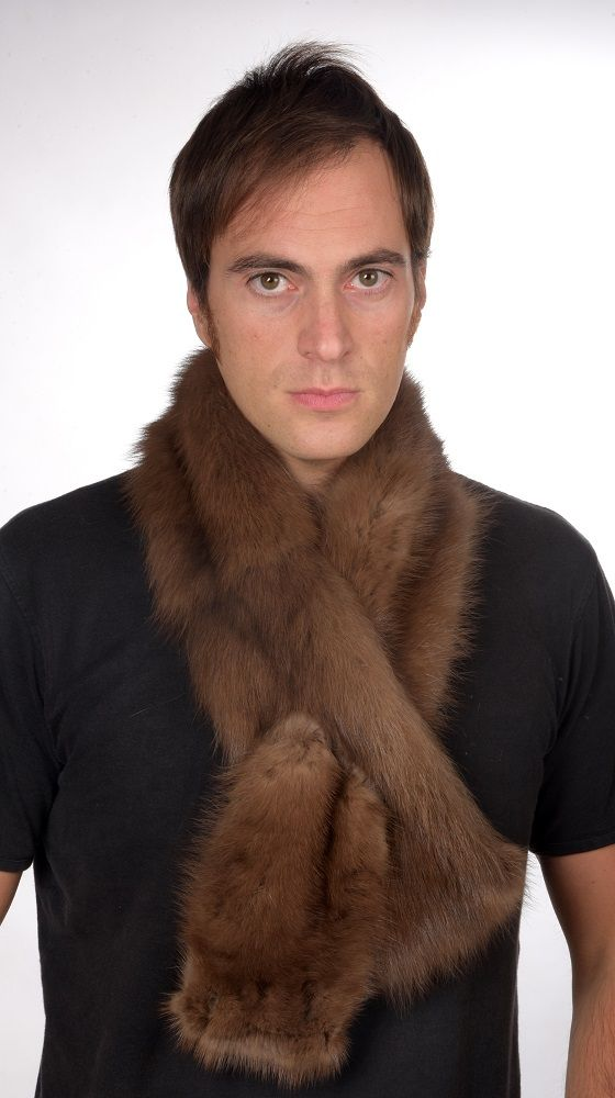 Real sable fur scarf.   www.amifur.co.uk