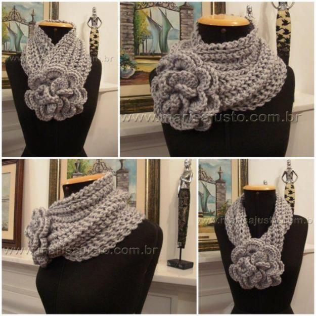 fotos de cuellos tejidos a crochet bufandas de