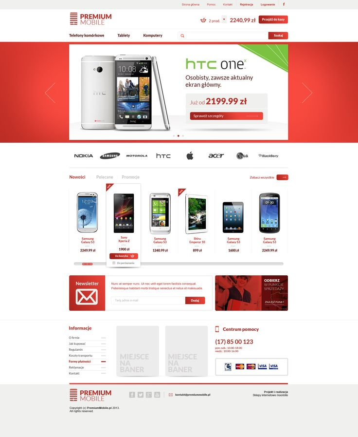 ecommerce / online store design