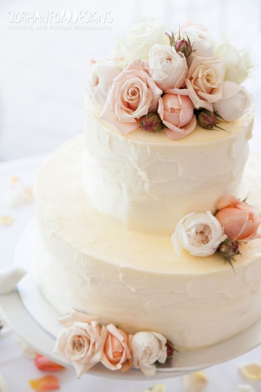 Bcg110 Lovely And Simple 2 Tier Cake Iced With Soft