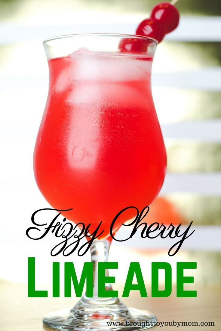Fizzy Cherry Limeade Recipe for a non-alcoholic fun drink for New Years Eve celebration or any time to party. Great for kids and the whole family.