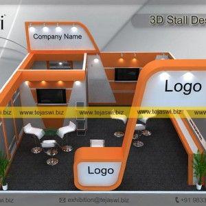 3d Exhibition Stall Design 6 Meter x 6 Meter _EC-661S4