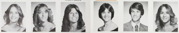 "1981 hair, in the ""Accolade"" yearbook of North Penn high school in Lansdale, Pennsylvania.  #NorthPenn #Lansdale #Accolade #yearbook #1981"