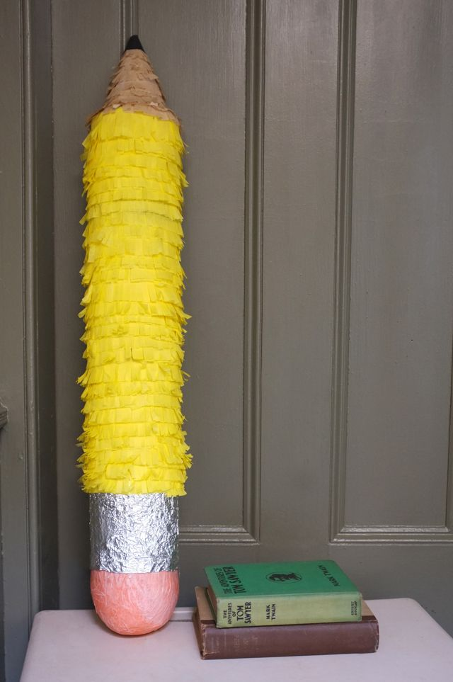This would make a great first day of school/ back to school pinata!