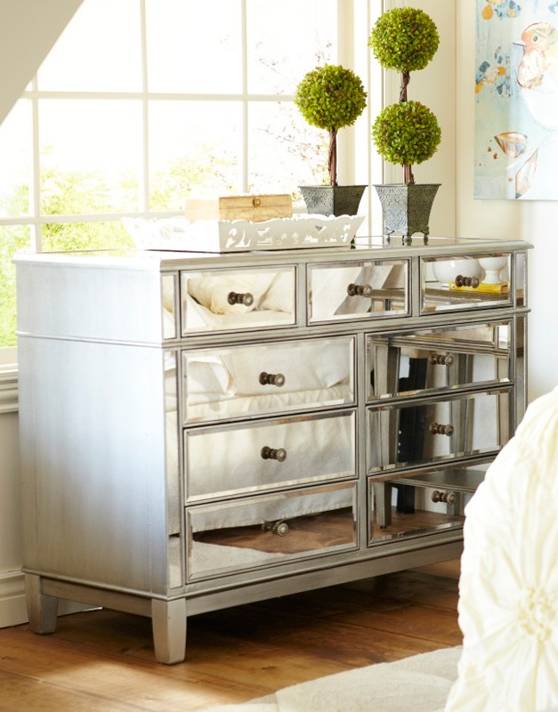 Mirrored Silver Dresser Furniture Ideas Baby Girls And