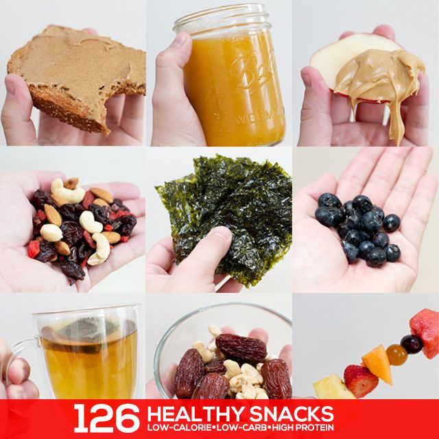 126 Super Healthy Snacks- this is the best list of healthy snacks! Tons of low calorie, low carb and high protein options.