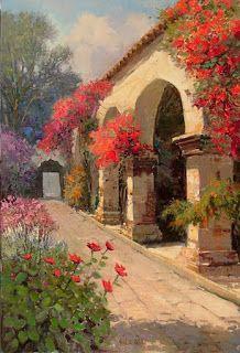 casas-del-campo-y-paisajes-muy-floridos. Kent R Wallis