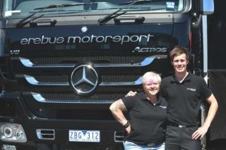 Jack Le Brocq with Erebus Motorsport owner Betty Klimenko