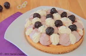 La tarte à la cerise amarena #cerise #tarte