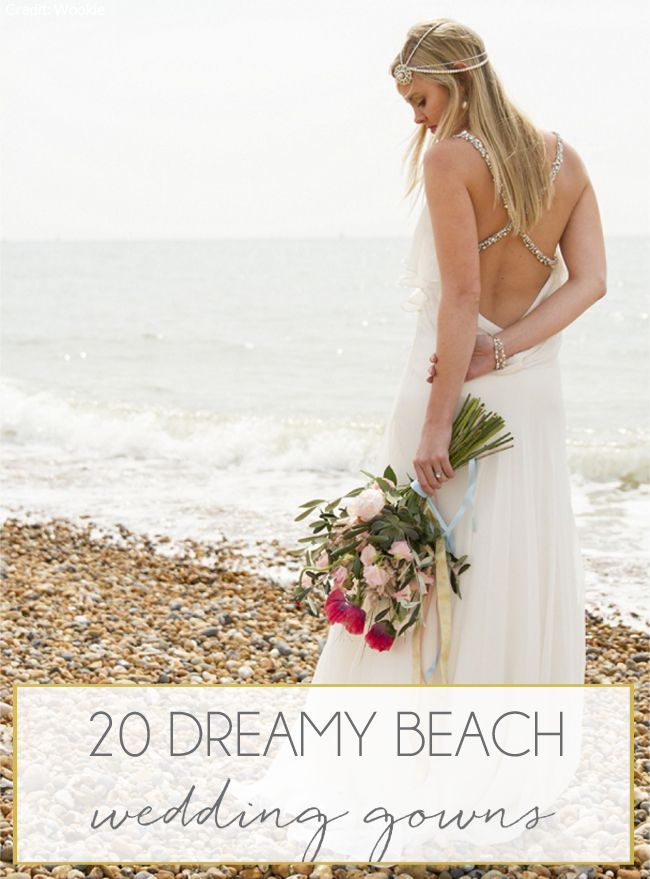 20 Dreamy Beach Wedding Dresses   SouthBound Bride   http://www.southboundbride.com/dreamy-beach-wedding-dresses   Credits: Maxeen Kim Photography/Bridal Path on SouthBound Bride