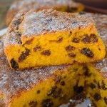 Moist easy pumpkin cake with sultanas, mums favorite recipe | My Little Italian Kitchen. Pintha? Torte di zucca . Italy