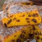 Moist easy pumpkin cake with sultanas, mums favorite recipe | My Little Italian Kitchen. Pintha? Torte di zucca . Italy