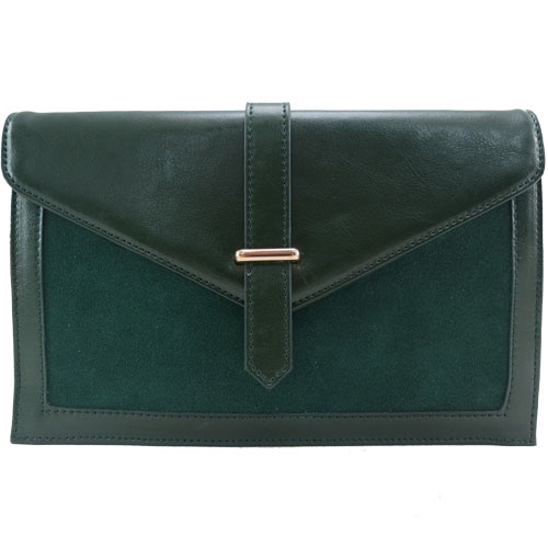 Brooklyn Leather Clutch in Dark Green - $89.00   Check it out at: http://www.bagaholics.com.au/leather-bags-c6/-brooklyn-leather-clutch-in-dark-green-p586/