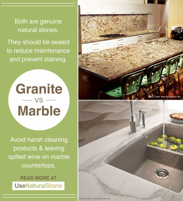 Granite Vs Marble Countertops What Is The Difference Marble Countertops Granite Countertops
