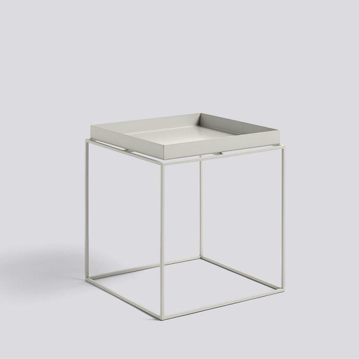 Hay, Tray Table, medium square, grau | Toendel