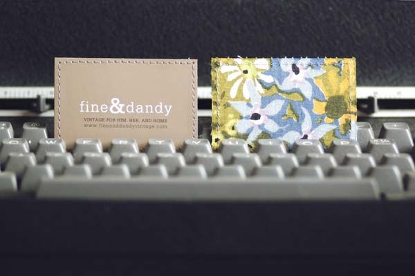 DIY fabric backed business card