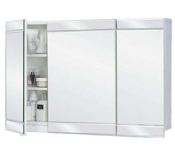 Buy Argos Home 3 Door Mirrored Wall Cabinet White At Argos