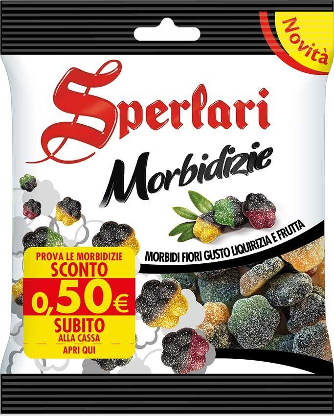 Morbidi rombi al gusto liquirizia e frutta: scopri le Morbidizie Sperlari!