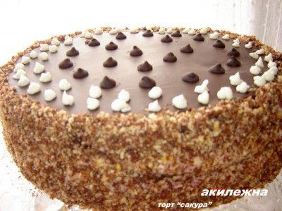 """Кулинарные рецепты от Лики: Торт """"Сакура"""""""