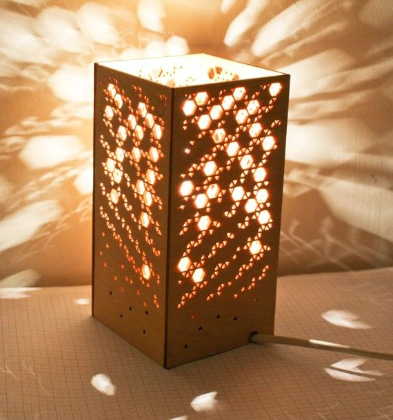 HannahChristie laser cut lamp. A very cool, ridiculously expensive novelty  :D