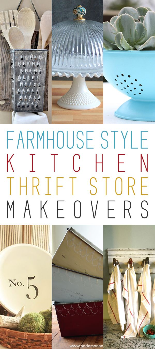 Farmhouse Style Kitchen Thrift Store Makeovers The
