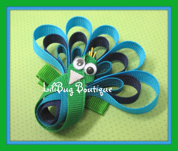 peacock bow... Need this for K's outfit
