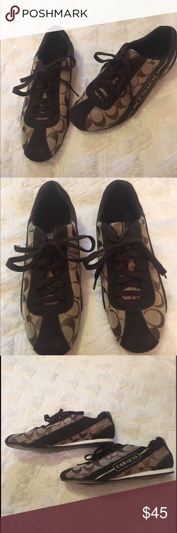 Coach tennis shoes! ✨ Beautiful and comfortable Coach tennis shoes! Perfect for everyday wear! Light used yet in perfect condition! Let me know if you have any questions! Make me an offer! ✨❤️ Coach Shoes Sneakers